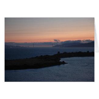 Golden Gate Bridge - Salmon Sky Greeting Card
