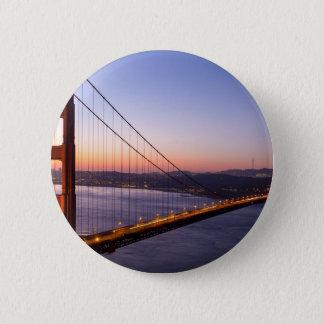 Golden Gate Bridge San Francisco at Sunrise 6 Cm Round Badge