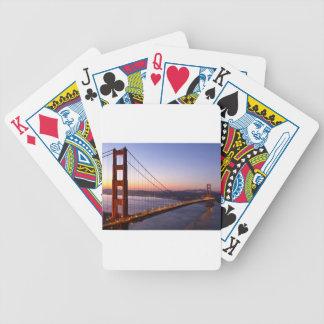 Golden Gate Bridge San Francisco at Sunrise Bicycle Playing Cards
