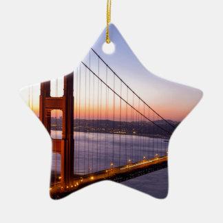 Golden Gate Bridge San Francisco at Sunrise Ceramic Ornament