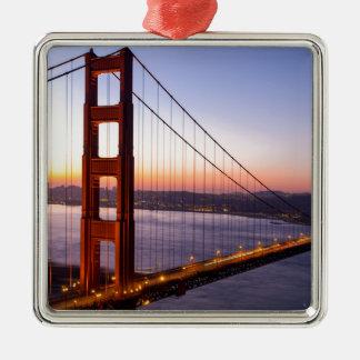 Golden Gate Bridge San Francisco at Sunrise Metal Ornament