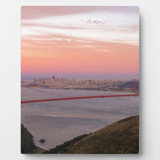 Golden Gate Bridge San Francisco at Sunrise Plaque