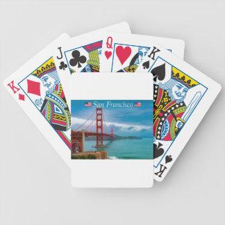 Golden Gate Bridge San Francisco Bicycle Playing Cards