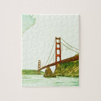 Golden Gate Bridge San Francisco by Shawna Mac Jigsaw Puzzle