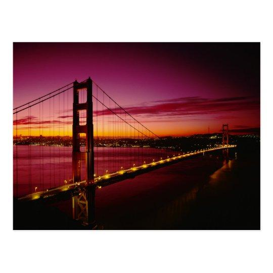 Golden Gate Bridge San Francisco California Sunset Picture: Golden Gate Bridge, San Francisco, California, 5 Postcard