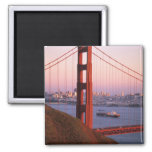 Golden Gate Bridge; San Francisco; California; Square Magnet