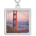 Golden Gate Bridge; San Francisco; California; Square Pendant Necklace