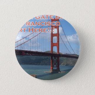 Golden Gate Bridge San Francisco California USA 6 Cm Round Badge