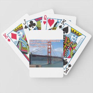 Golden Gate Bridge San Francisco California USA Bicycle Playing Cards