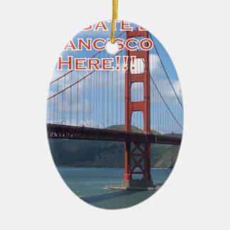 Golden Gate Bridge San Francisco California USA Ceramic Ornament