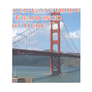 Golden Gate Bridge San Francisco California USA Notepads