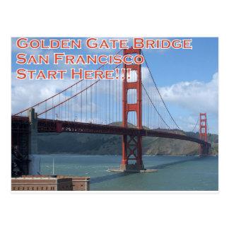 Golden Gate Bridge San Francisco California USA Postcard