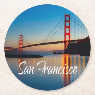 Golden Gate Bridge, San Francisco, California, USA Round Paper Coaster