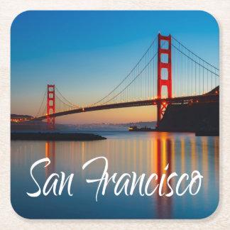 Golden Gate Bridge, San Francisco, California, USA Square Paper Coaster