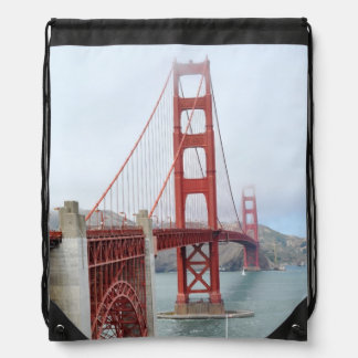 Golden Gate Bridge, San Francisco Drawstring Bag