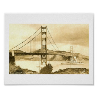 Golden Gate Bridge, San Francisco Vintage Poster