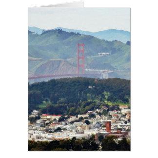 Golden Gate Bridge Seen From Twin Peaks Cards