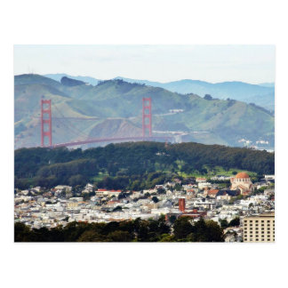 Golden Gate Bridge Seen From Twin Peaks Postcards