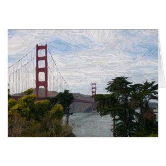 Golden Gate Bridge Sketch Version Card