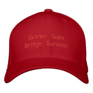 Golden Gate Bridge Survivor Walked Biked both ways Embroidered Hat