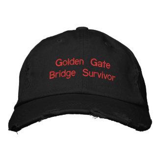 Golden Gate Bridge Survivor Walked/Biked both ways Embroidered Hat