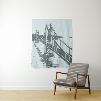 Golden Gate Bridge Tapestry Gray Blue