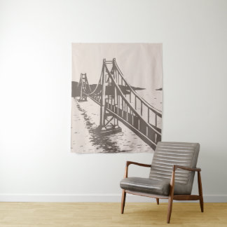 Golden Gate Bridge Tapestry Tan