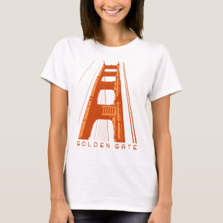 Golden Gate Bridge Tower - Orange T-Shirt