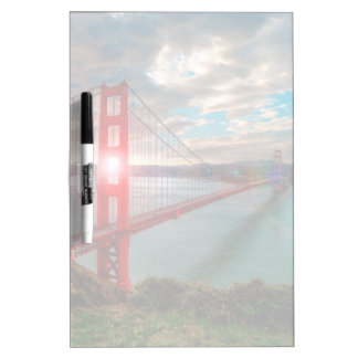 Golden Gate Bridge with Sun Shining through. Dry Erase White Board