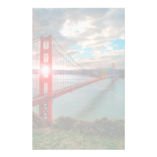 Golden Gate Bridge with Sun Shining through. Personalized Stationery