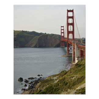 Golden Gate bridge with view to Marin County Poster