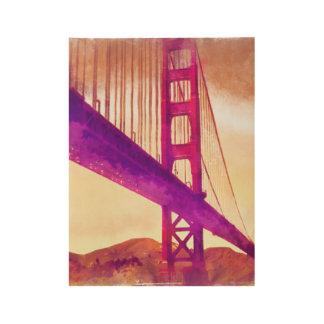 Golden gate bridge wood poster