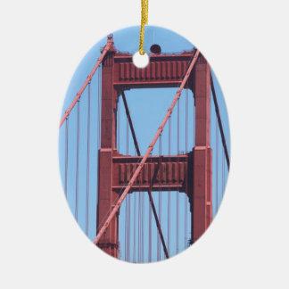 Golden Gate Ceramic Ornament