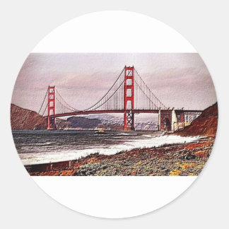 Golden Gate Classic Round Sticker