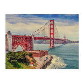 Golden Gate Love Postcard