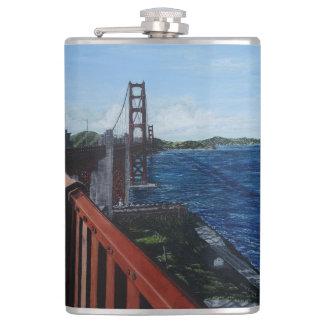 Golden Gate Morning Vinyl Wrapped Flask