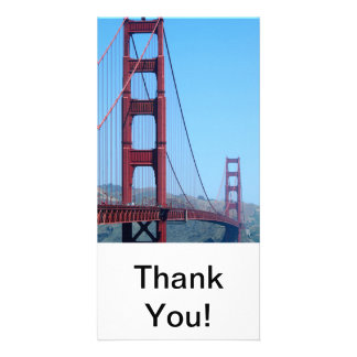 Golden Gate Personalized Photo Card