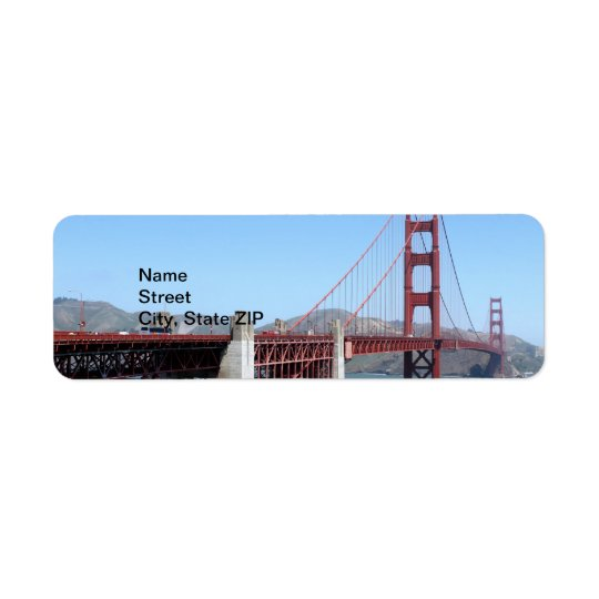 Golden Gate Return Address Label
