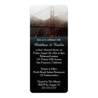 Golden Gate San Francisco Rehearsal Dinner Card