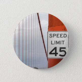 golden gate speed limit 6 cm round badge