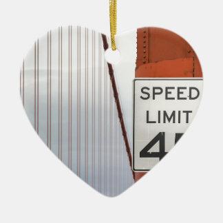 golden gate speed limit ceramic ornament