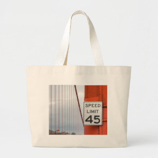 golden gate speed limit large tote bag