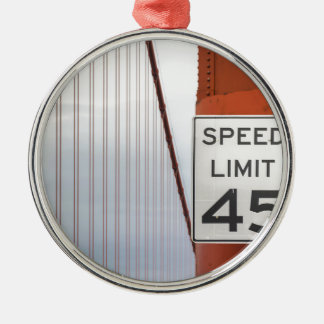 golden gate speed limit metal ornament