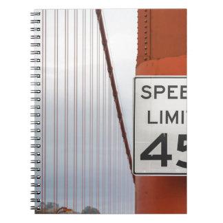 golden gate speed limit notebooks