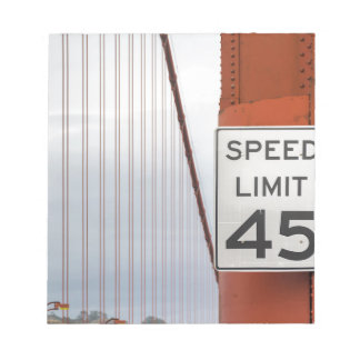 golden gate speed limit notepad