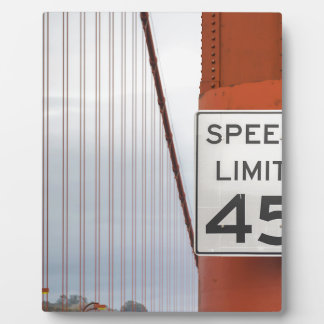 golden gate speed limit plaque