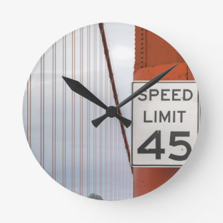 golden gate speed limit round clock