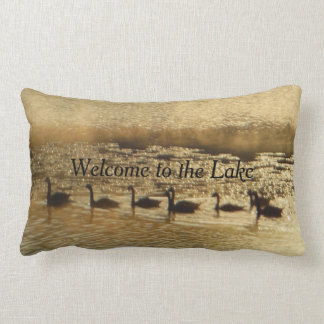 Golden Geese Welcome to the Lake Come Back Lumbar Cushion