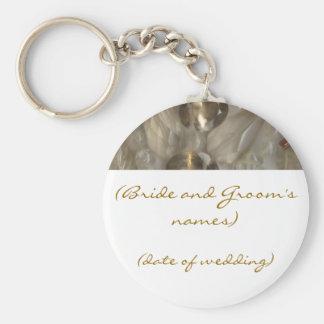 Golden Gems Wedding Keyring Keychain