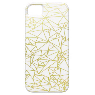 Golden Geo Triangle Design iPhone 5/5s Case